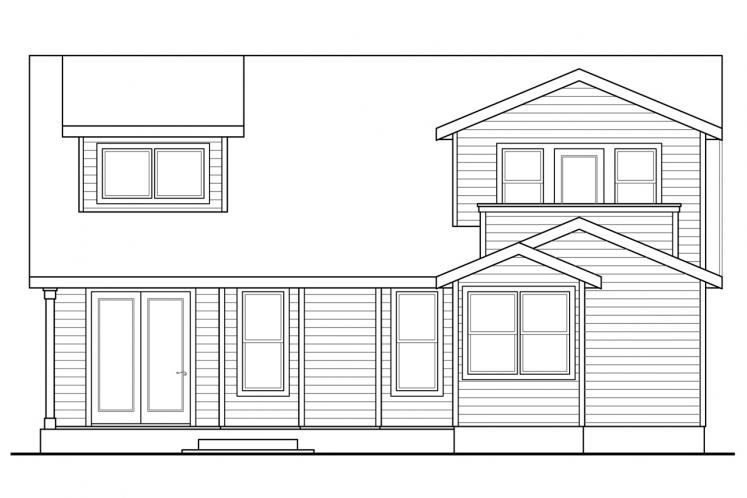 Country House Plan - McKenzie 10766 - Rear Exterior
