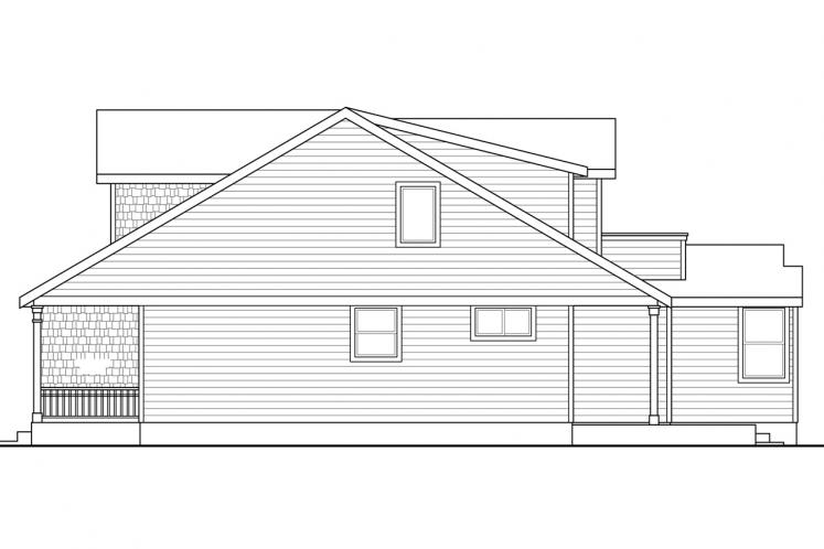 Country House Plan - McKenzie 10766 - Right Exterior