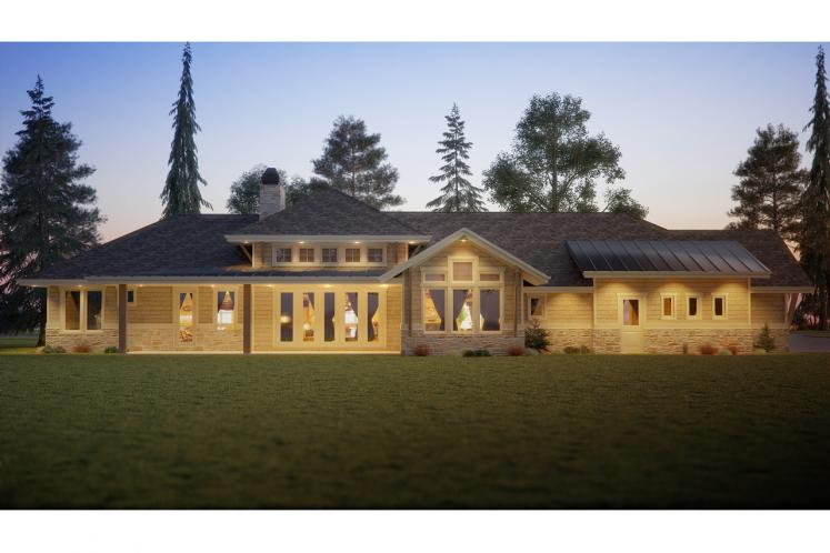 Craftsman House Plan - Oyster Point 10827 - Rear Exterior