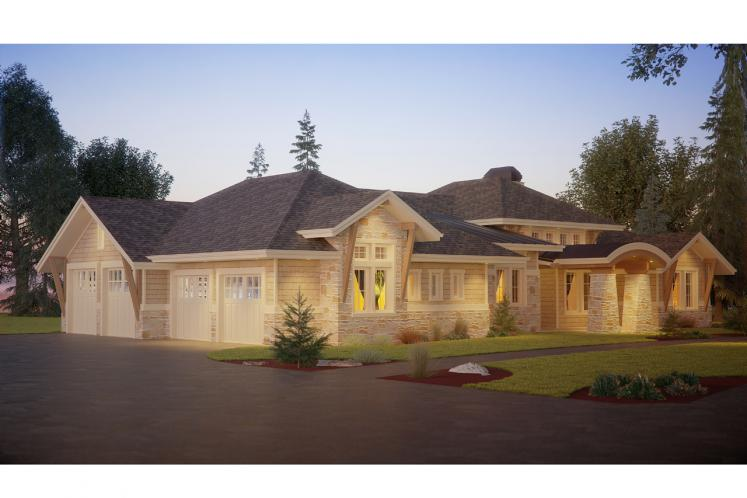 Tuscan House Plan - Oyster Point 10827 - Left Exterior