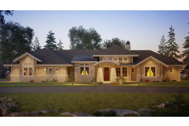 Ranch House Plan - Oyster Point 10827 - Front Exterior