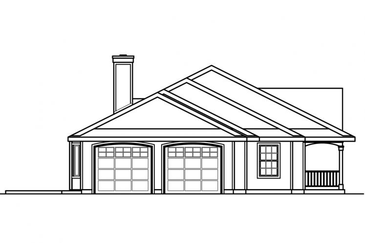 Ranch House Plan - Clarkdale 10842 - Left Exterior