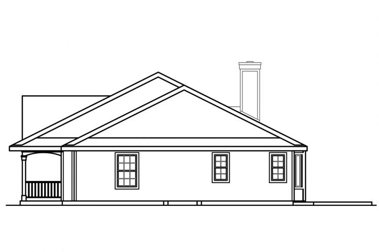 Country House Plan - Clarkdale 10842 - Right Exterior