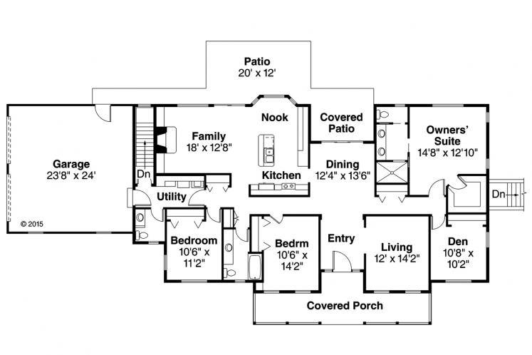 Colonial House Plan - Clarkdale 10842 - 1st Floor Plan