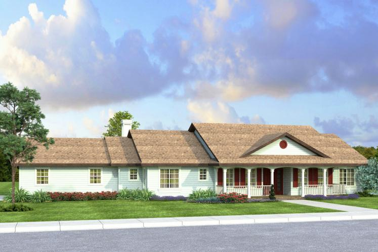 Country House Plan - Clarkdale 10842 - Front Exterior