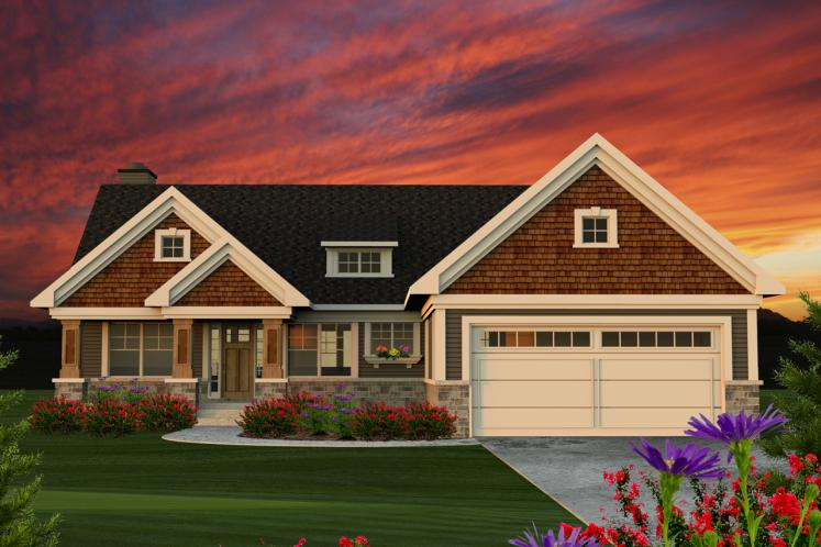 Ranch House Plan -  10864 - Front Exterior