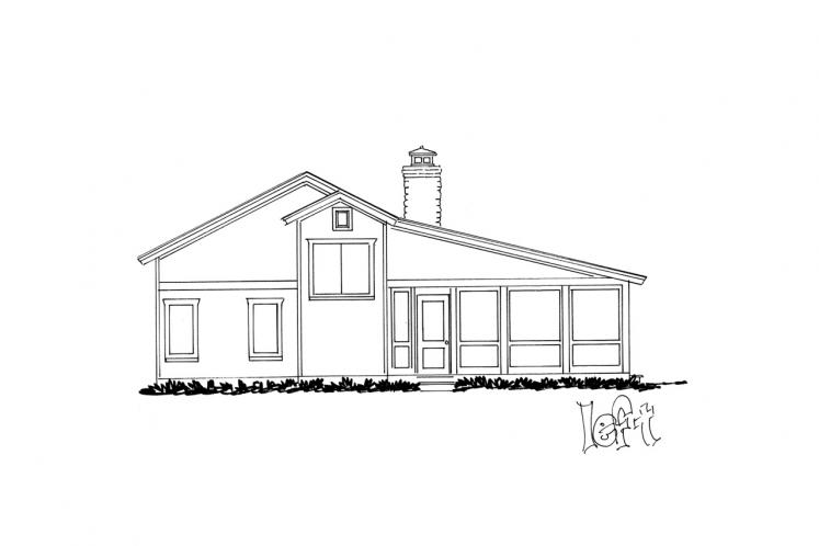 Traditional House Plan - Bunkhouse II 10932 - Left Exterior