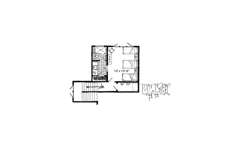 Traditional House Plan - Bunkhouse II 10932 - 2nd Floor Plan