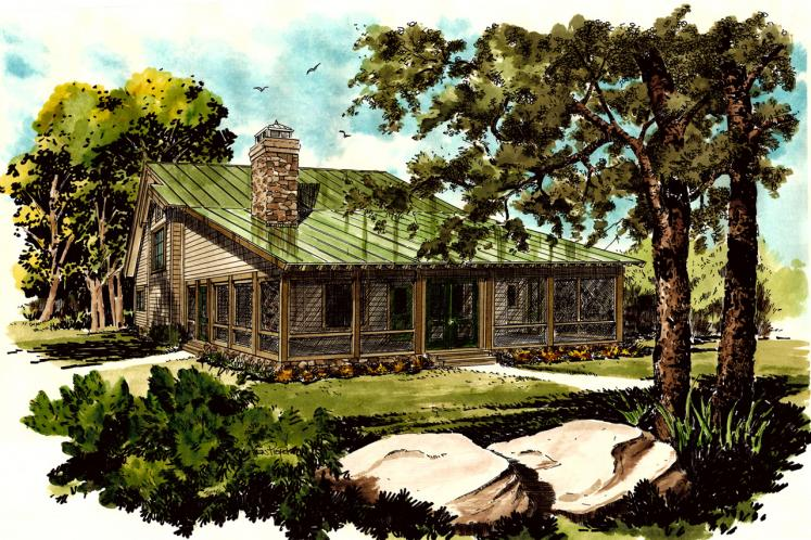 Cottage House Plan - Bunkhouse II 10932 - Front Exterior