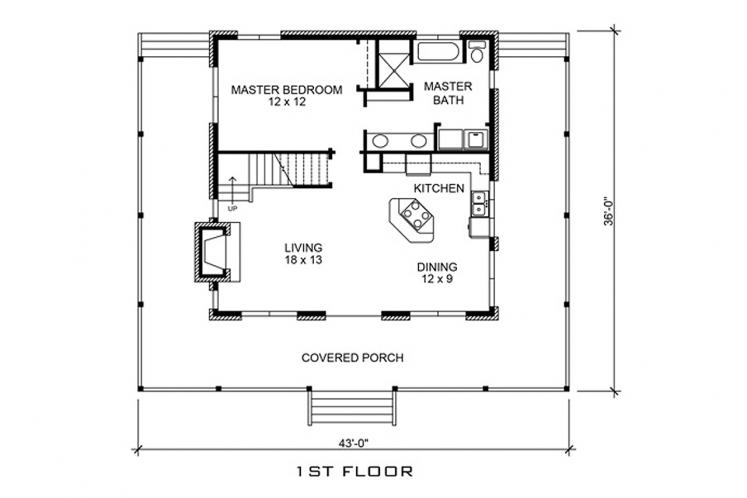 Country House Plan - Lampasas 10946 - 1st Floor Plan
