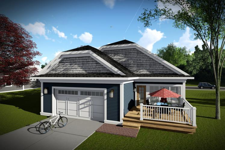 Cottage House Plan -  11155 - Rear Exterior