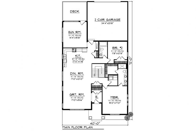 Ranch House Plan -  11155 - 1st Floor Plan