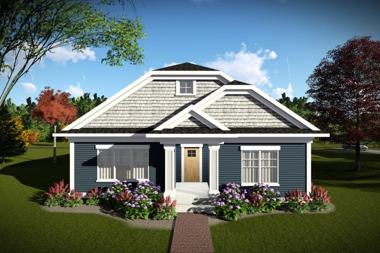 Craftsman House Plan -  11155 - Front Exterior