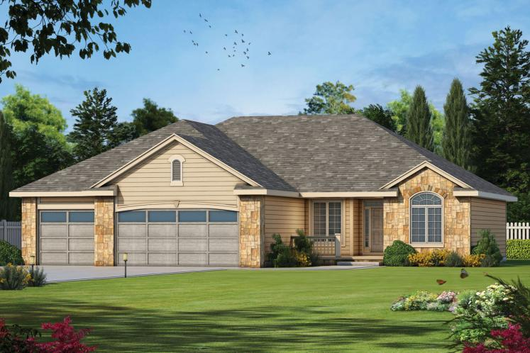 Country House Plan - Elway 11348 - Front Exterior