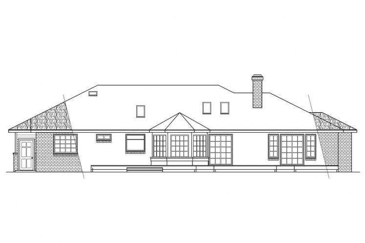 Country House Plan - Grayling 11418 - Rear Exterior
