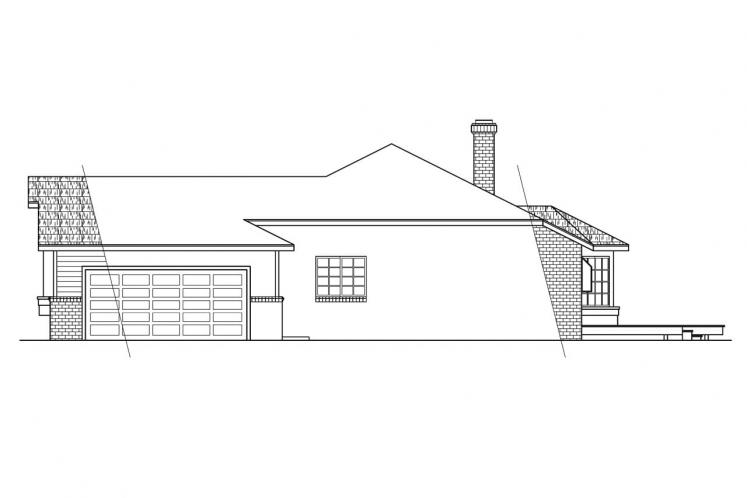 Ranch House Plan - Grayling 11418 - Right Exterior