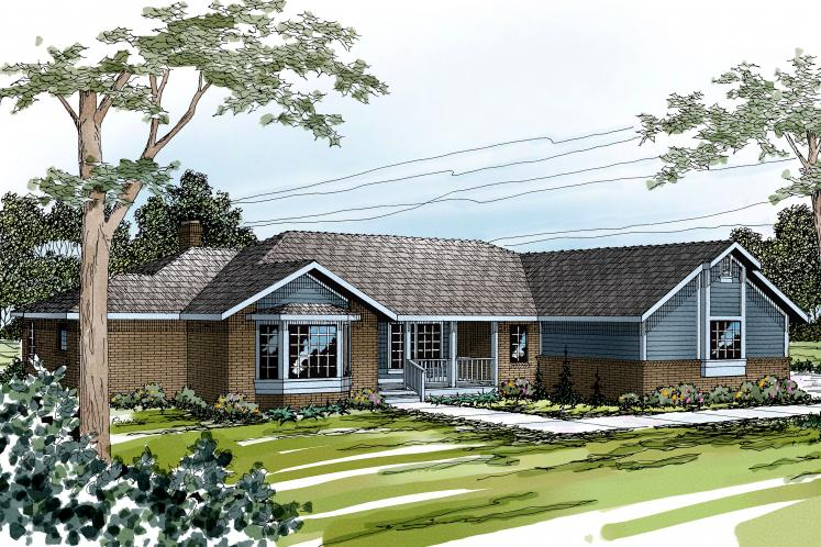 Ranch House Plan - Grayling 11418 - Front Exterior