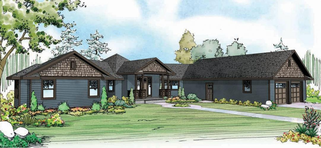 Country House Plan - Mountain View 11437 - Front Exterior
