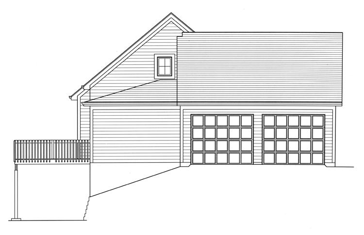 Cottage House Plan - Wynfield 11438 - Left Exterior
