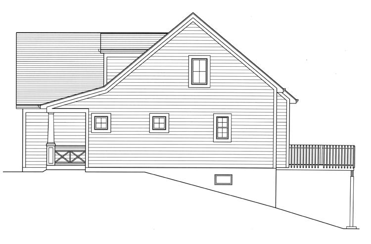 Country House Plan - Wynfield 11438 - Right Exterior