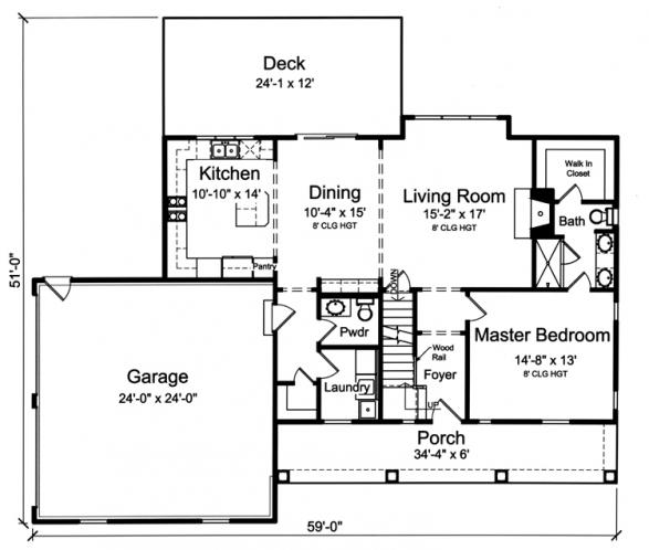 Cottage House Plan - Wynfield 11438 - 1st Floor Plan