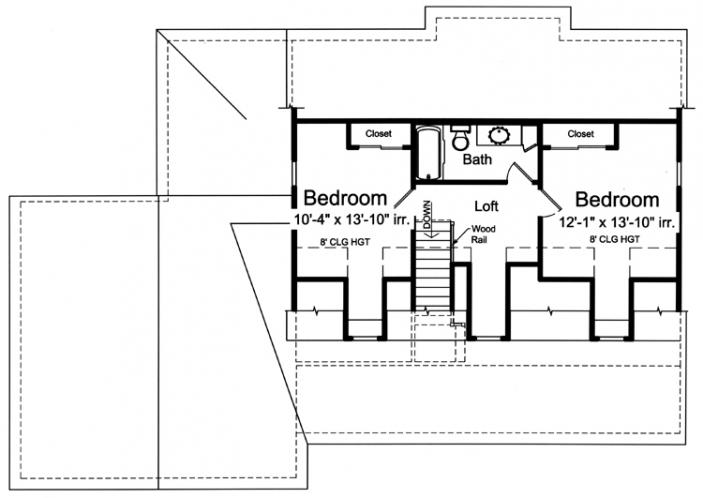 Country House Plan - Wynfield 11438 - 2nd Floor Plan
