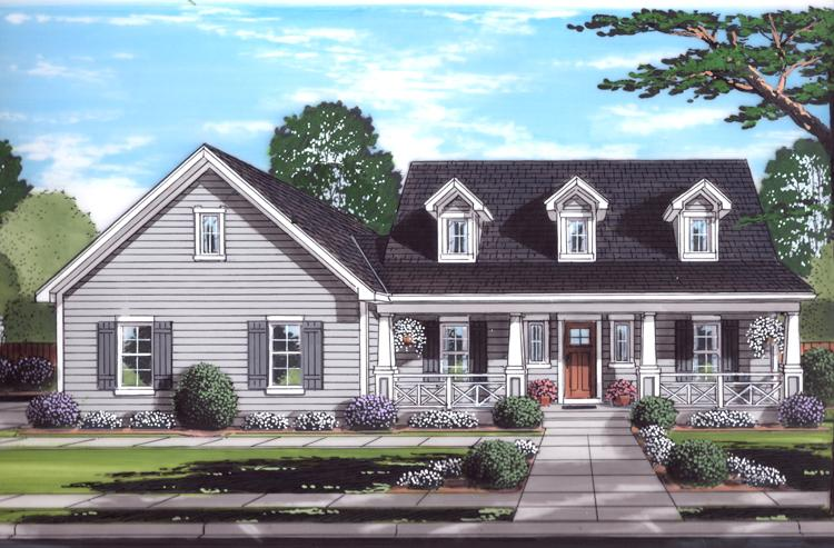 Cape Cod House Plan - Wynfield 11438 - Front Exterior
