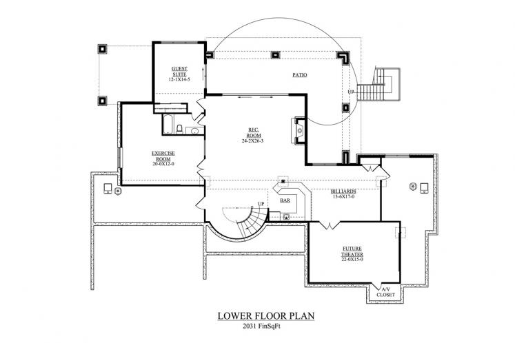 Mediterranean House Plan - Toscana 11462 - Basement Floor Plan