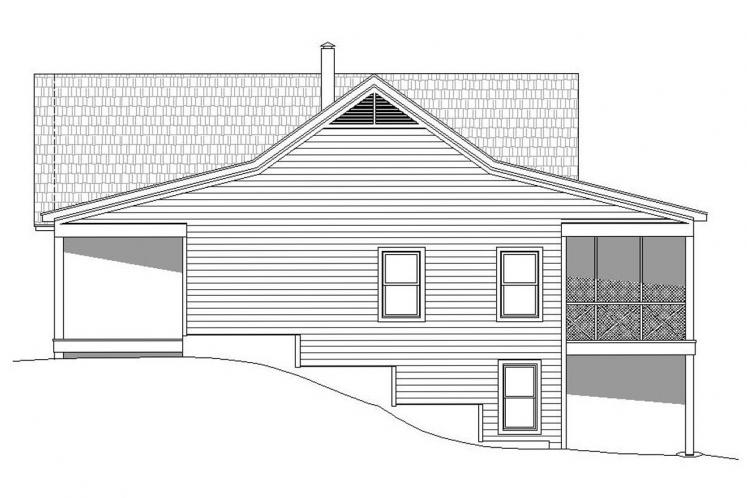 Craftsman House Plan - Greers Ferry 11471 - Right Exterior