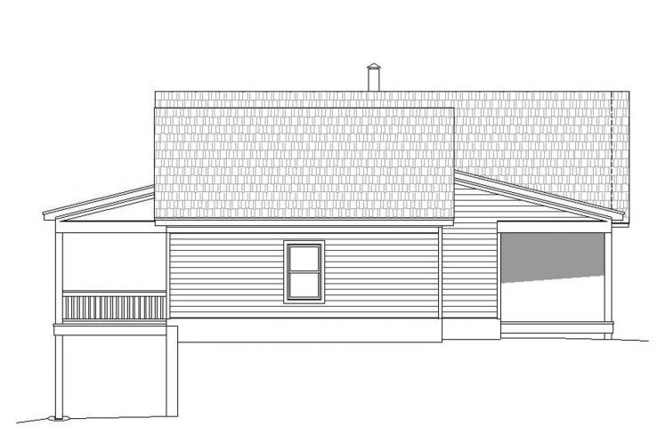 Ranch House Plan - Greers Ferry 11471 - Left Exterior