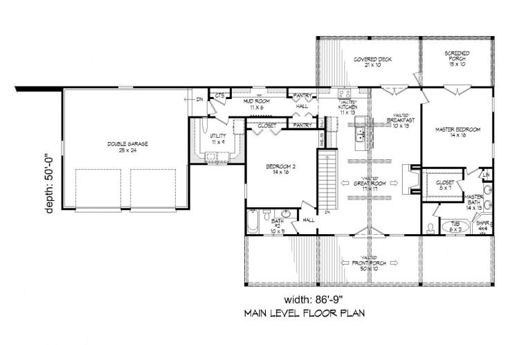 Country House Plan - Greers Ferry 11471 - 1st Floor Plan