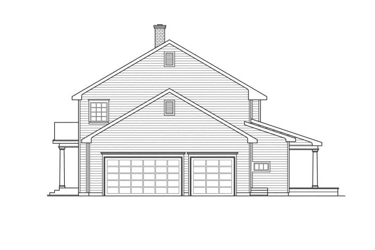 Colonial House Plan - Kearney 11567 - Right Exterior