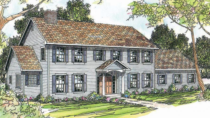 Colonial House Plan - Kearney 11567 - Front Exterior