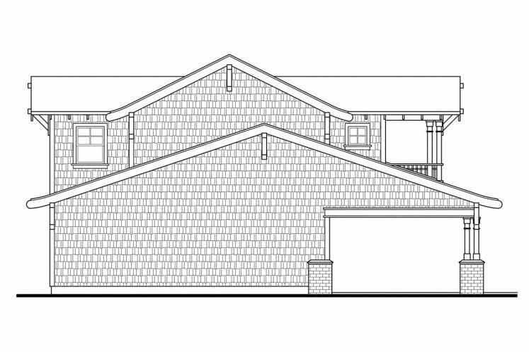 Bungalow Garage Plan -  11603 - Left Exterior