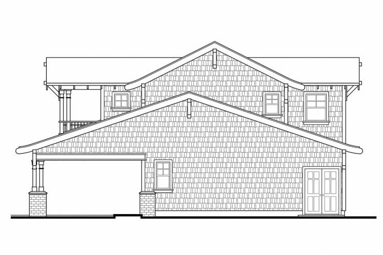 Craftsman Garage Plan -  11603 - Right Exterior