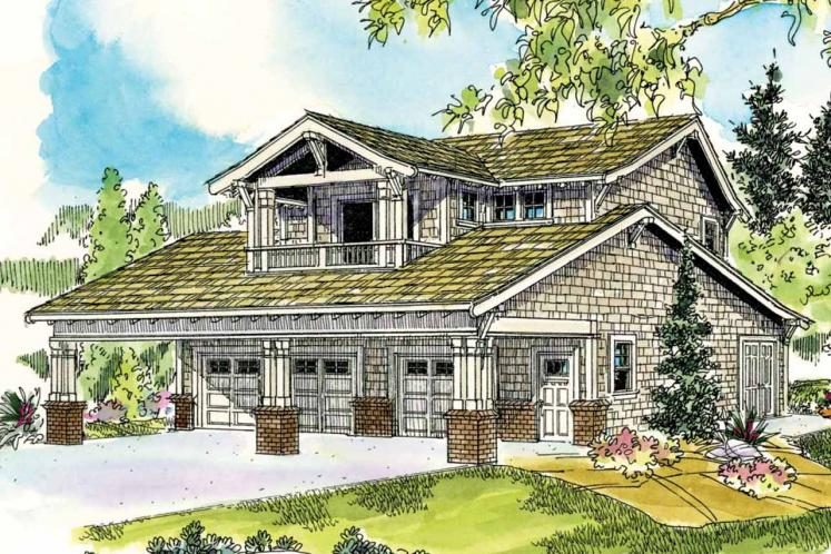 Bungalow Garage Plan -  11603 - Front Exterior