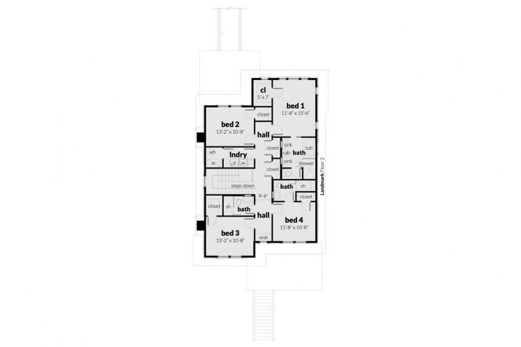 Cape Cod House Plan -  11634 - 2nd Floor Plan