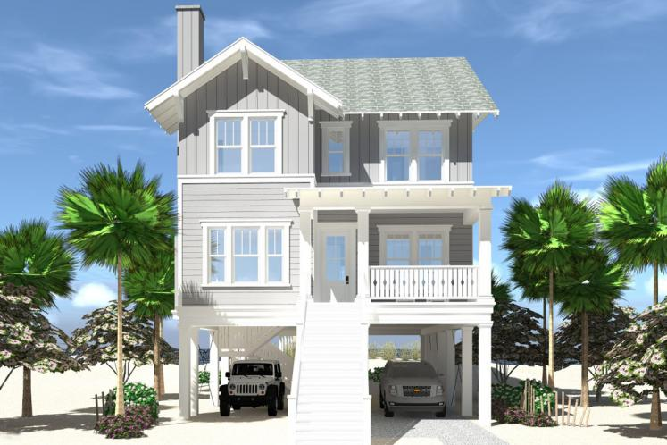 Cape Cod House Plan -  11634 - Front Exterior