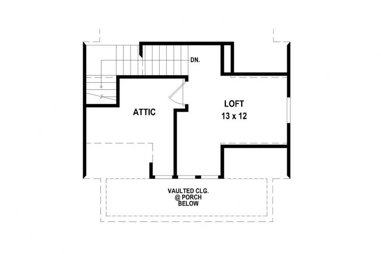 Traditional House Plan -  11731 - 2nd Floor Plan