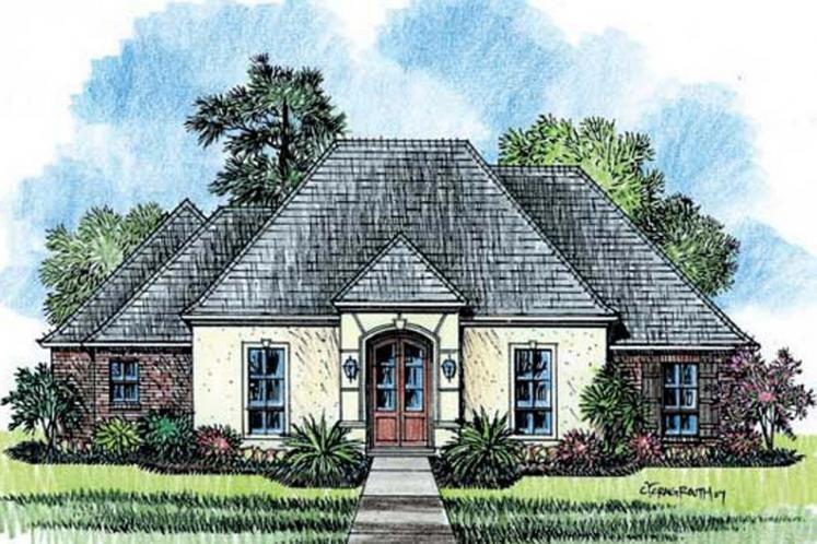 European House Plan - Bellaire 11784 - Front Exterior