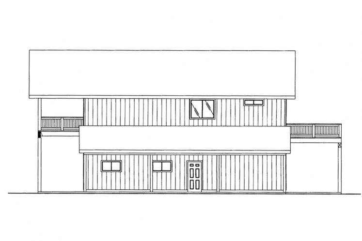 Country Garage Plan -  11844 - Right Exterior