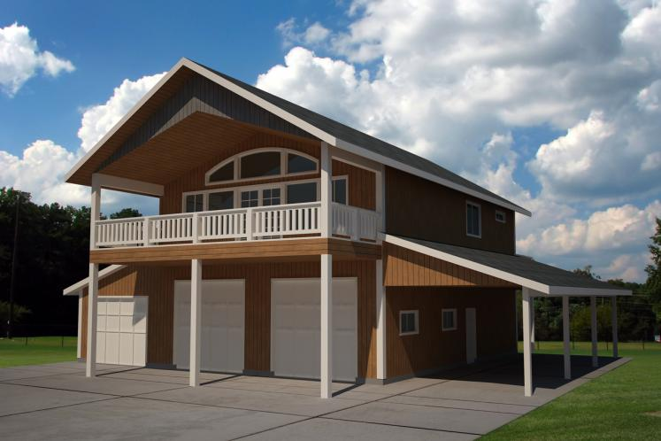 Country Garage Plan -  11844 - Front Exterior