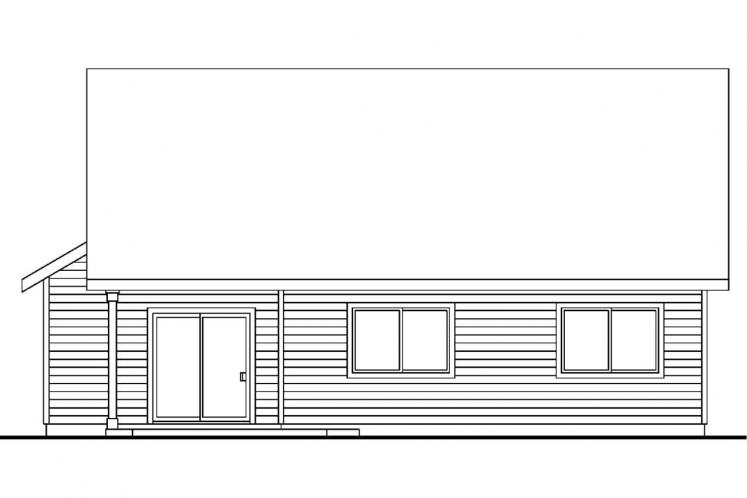 Cottage House Plan - Chatham 11850 - Rear Exterior