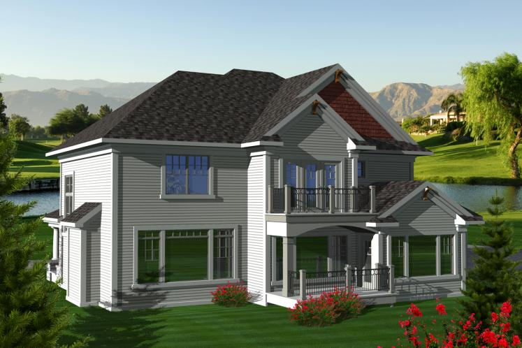 Craftsman House Plan -  11855 - Rear Exterior