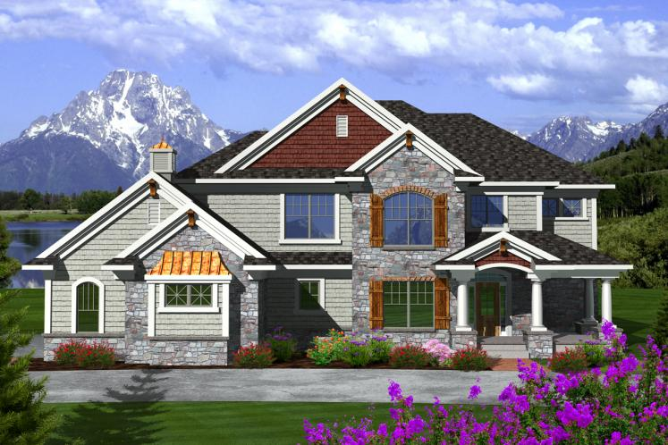 Traditional House Plan -  11855 - Front Exterior