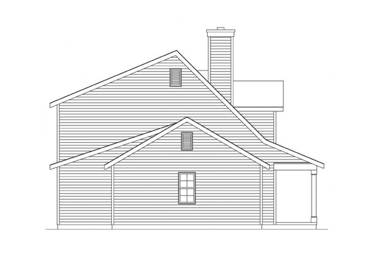 Traditional House Plan -  11877 - Left Exterior