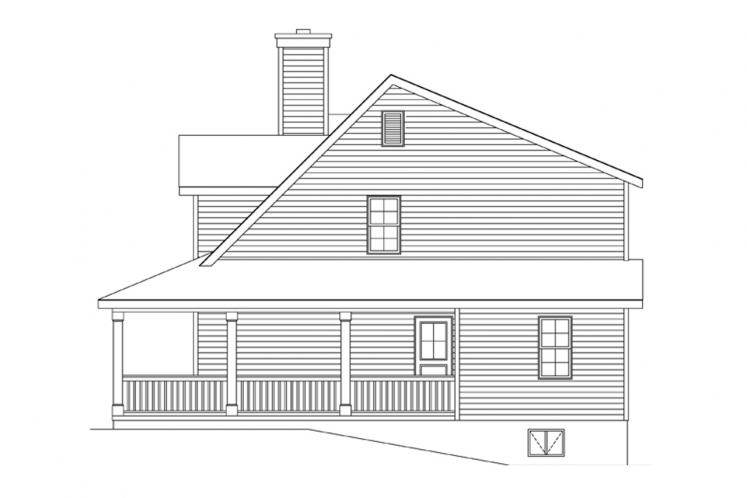 Country House Plan -  11877 - Right Exterior