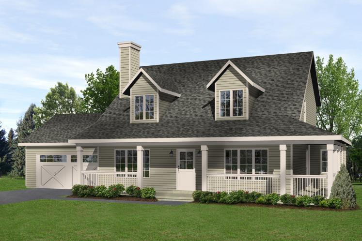 Country House Plan -  11877 - Front Exterior