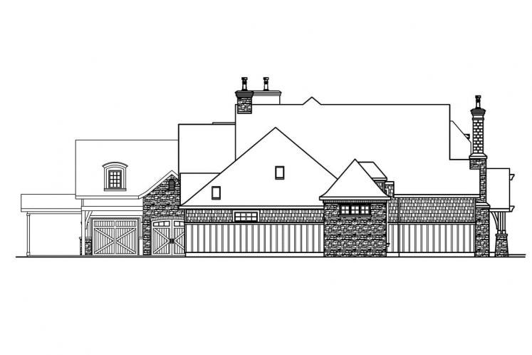 Country House Plan - Chesterson 11888 - Left Exterior