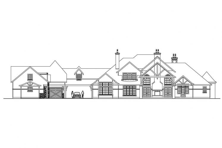 Country House Plan - Chesterson 11888 - Rear Exterior